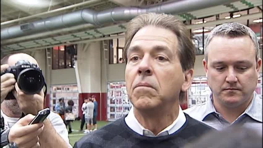 Nick Saban's Full Interview At Alabama's Pro Day