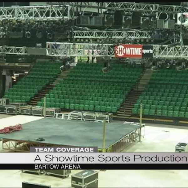 Showtime preps at Bartow arena before Wilder vs. Molina heavyweight boxing match_102110