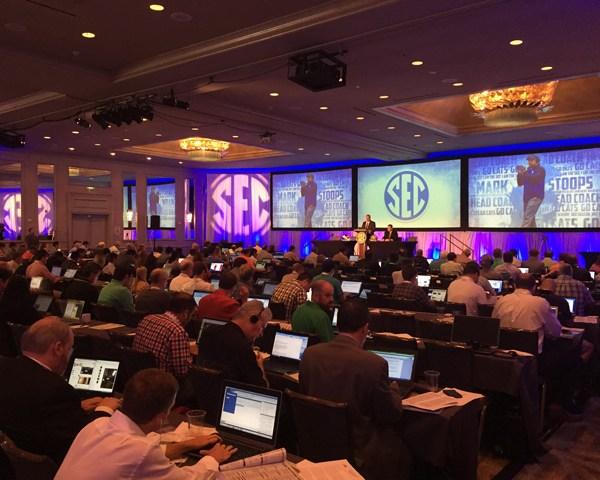full house at SEC Media Days_107303