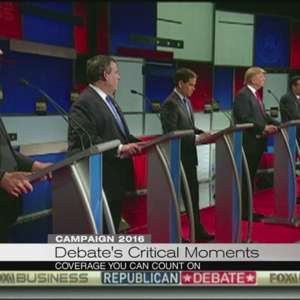 Debate's critical moments