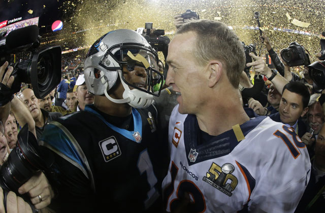 Cam Newton and Peyton Manning_150812