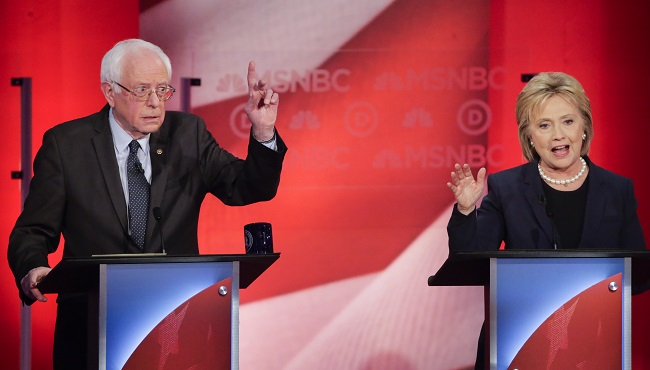 Bernie Sanders, Hillary Clinton_150220
