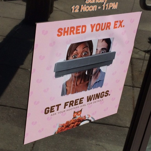Hooters shred your ex_152101