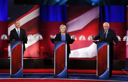 Hillary Clinton, Martin O'Malley, Bernie Sanders_145429