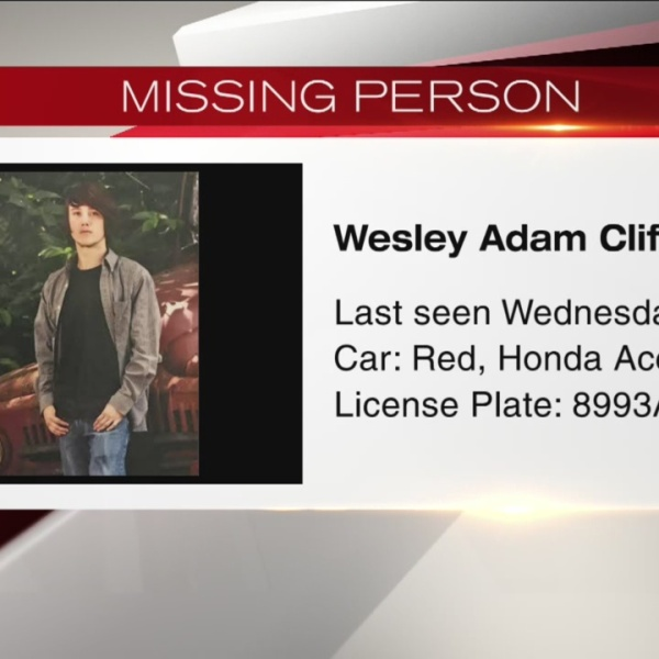 Missing person Wesley Adam Clifton_176452