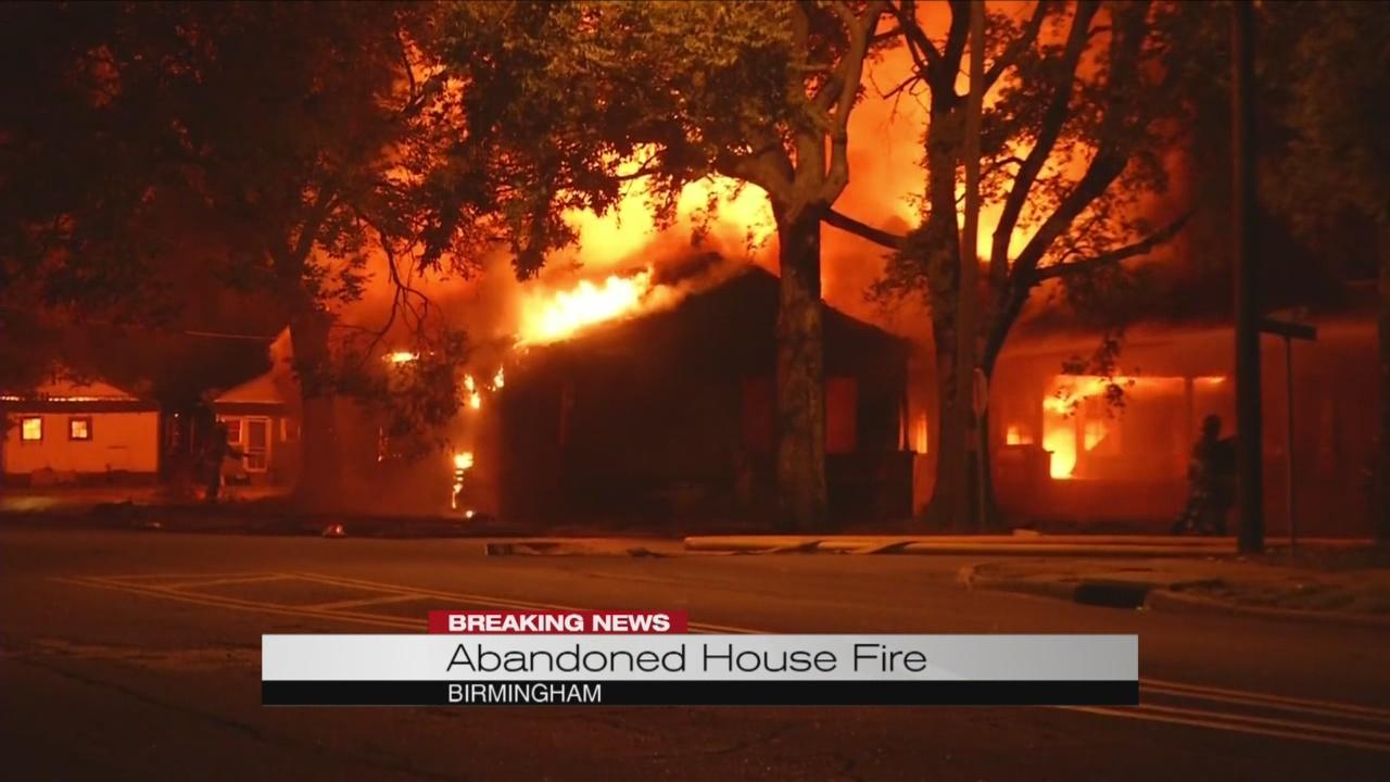 abandoned house fire