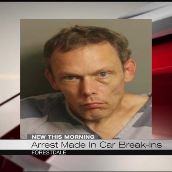 Arrest made in car break-ins_184313