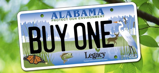 legacy alabama license plat supports alabama teachers donate_183347
