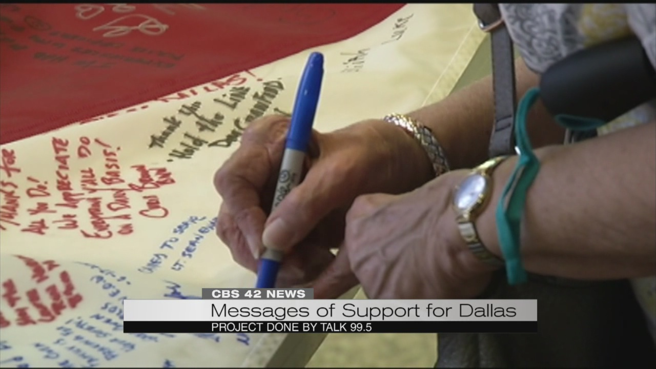 Messages of support for Dallas_186857