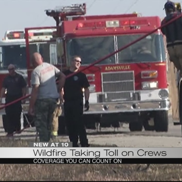 Wildfires taking toll on crews