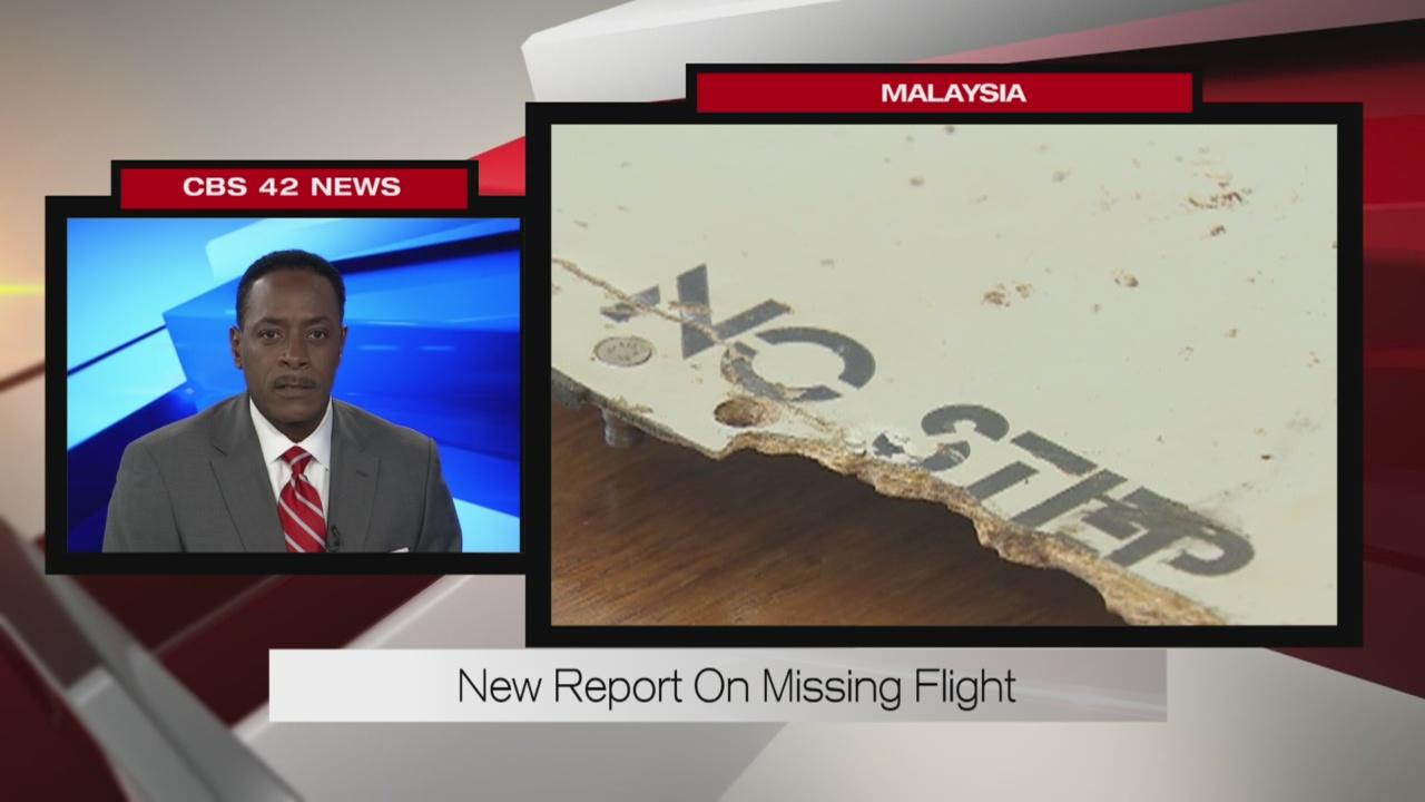 New report on missing flight
