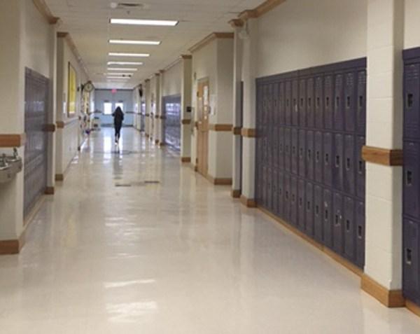 school hallway lockers water fountain fairview high school_197534