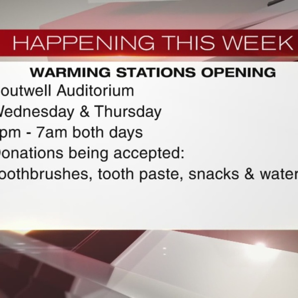 Warming stations opening