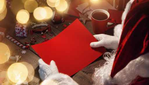 Santa Claus with red card_211516