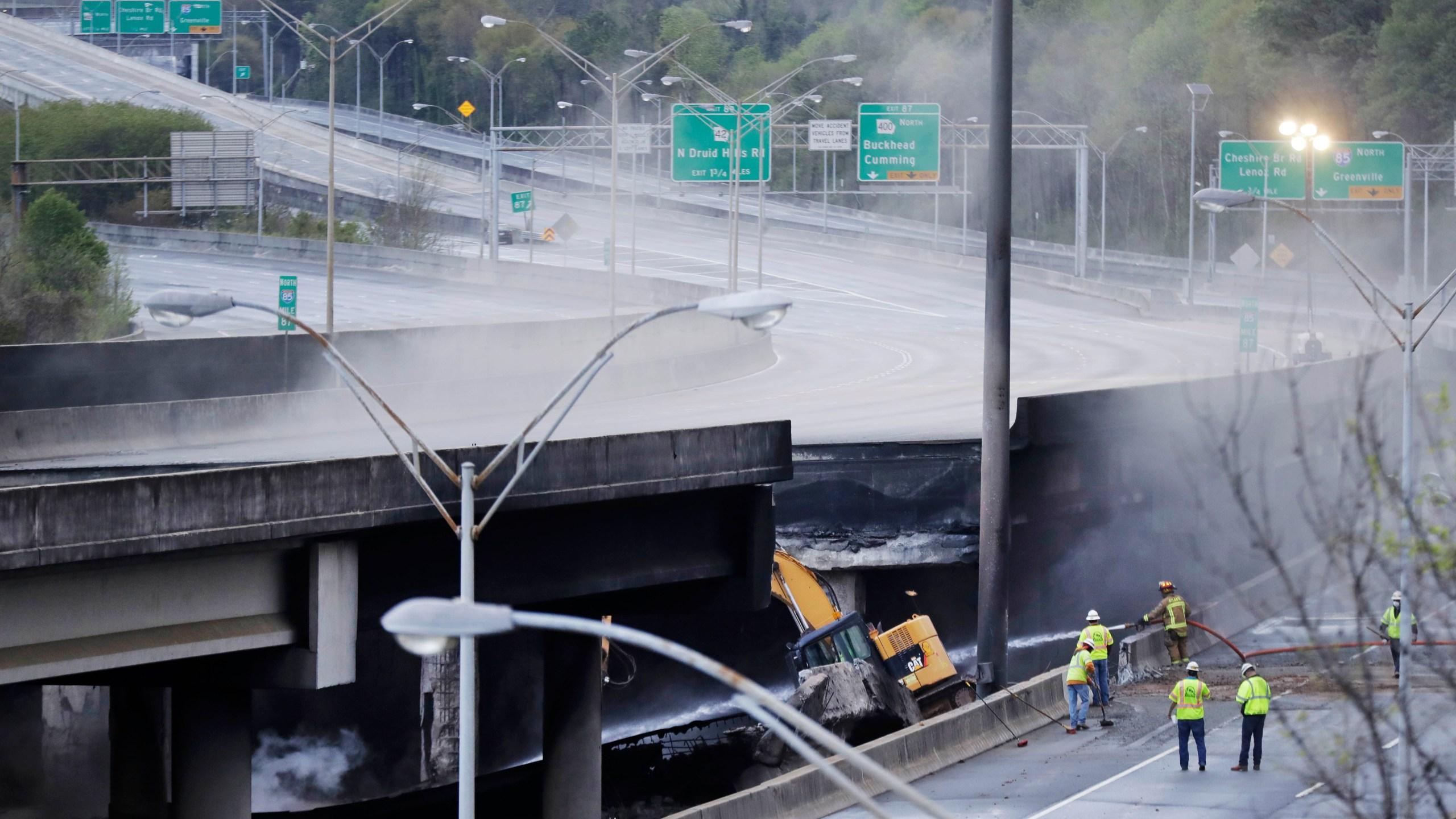 APTOPIX Overpass Collapse Fire_251405