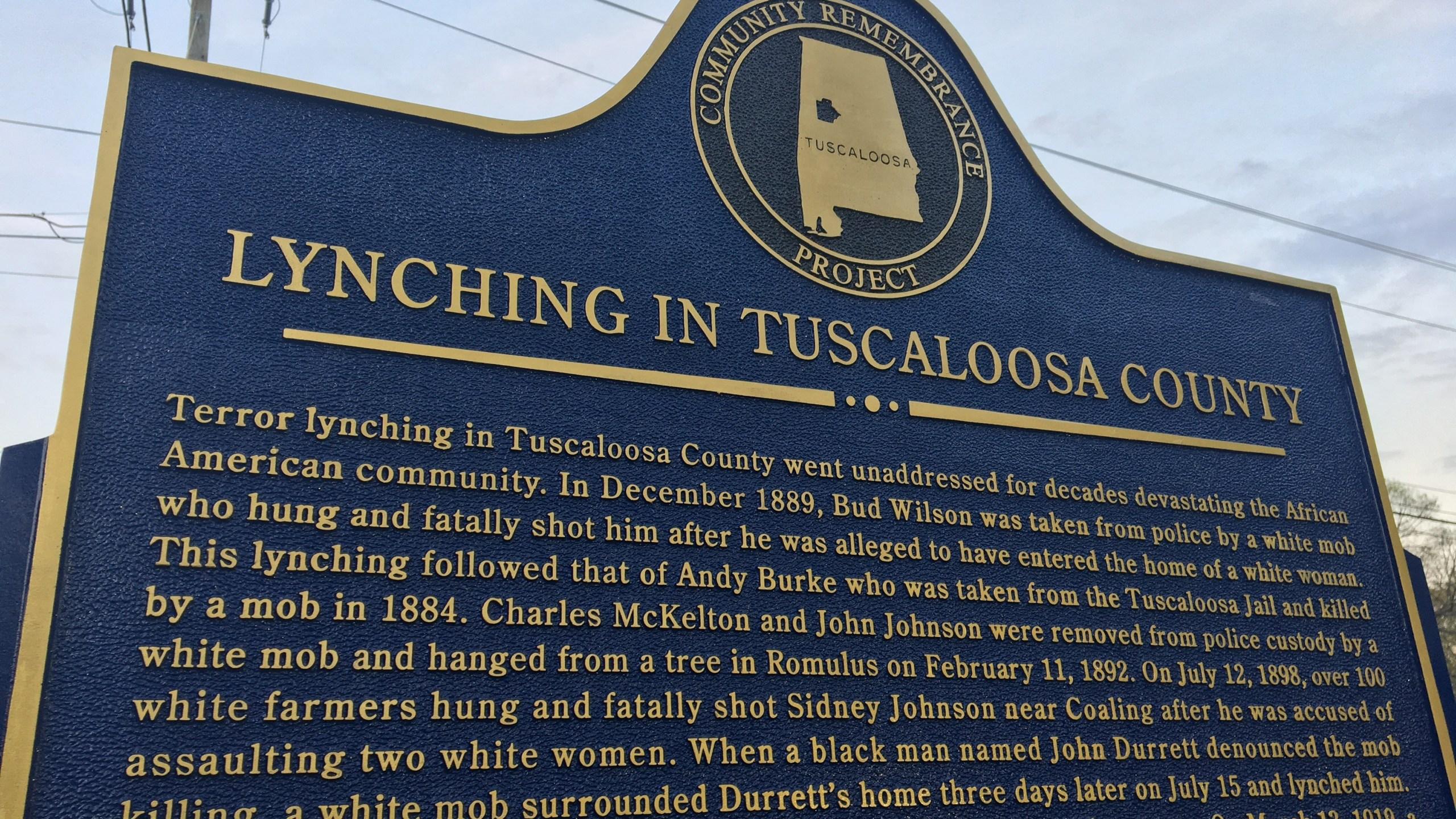 Tuscaloosa Lynching Marker_240917