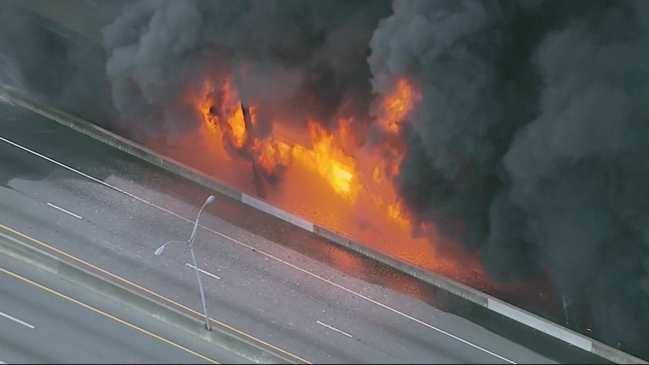 Three charged in interstate fire