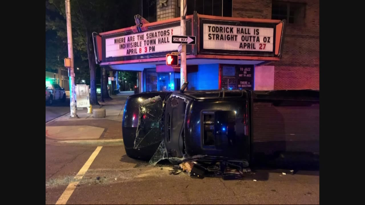 car crash in front of carver theater_256239