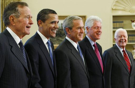 George W. Bush, Barack Obama, Bill Clinton, Jimmy Carter, George H.W. Bush_327060