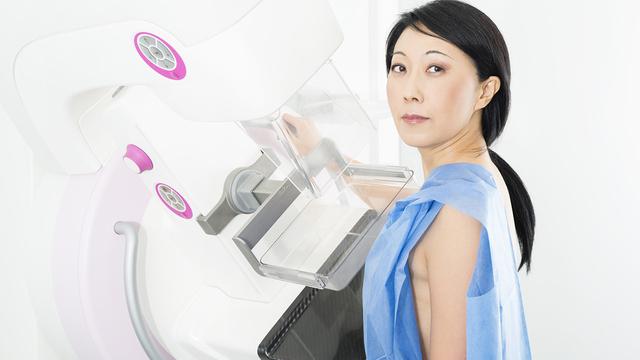 Portrait Of Woman Undergoing Mammogram X-ray Test_319161