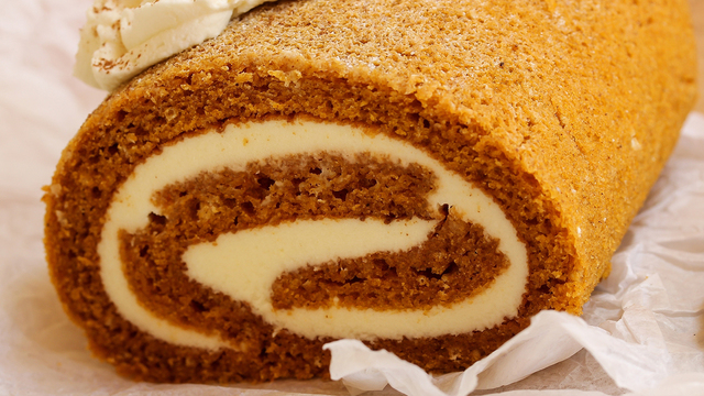 Close up of a pumpkin roll_328449