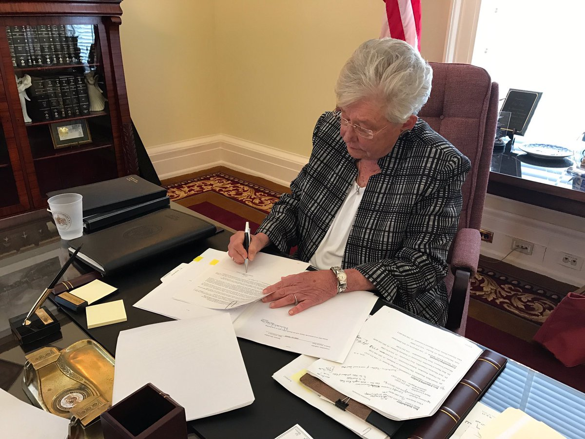 governor kay ivey signs first bill into law on tuesday april 11 2017_255060