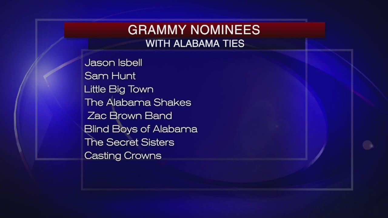 Grammy Nominees with Alabama Ties