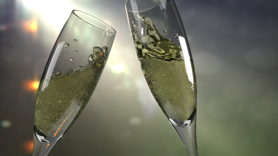 champagne alcohol flute, glass drink drunk driving new years eve celebrate_214849