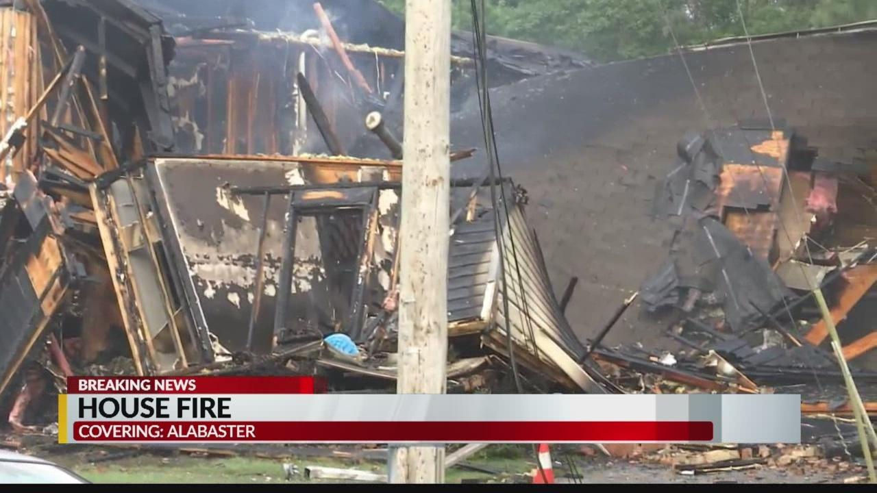 Alabaster home destroyed in fire