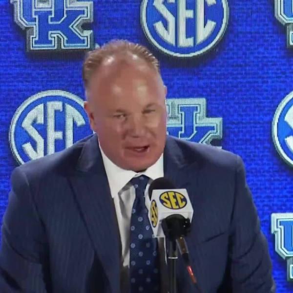 University of Kentucky football head coach Mark Stoops at SEC Media Days - full video