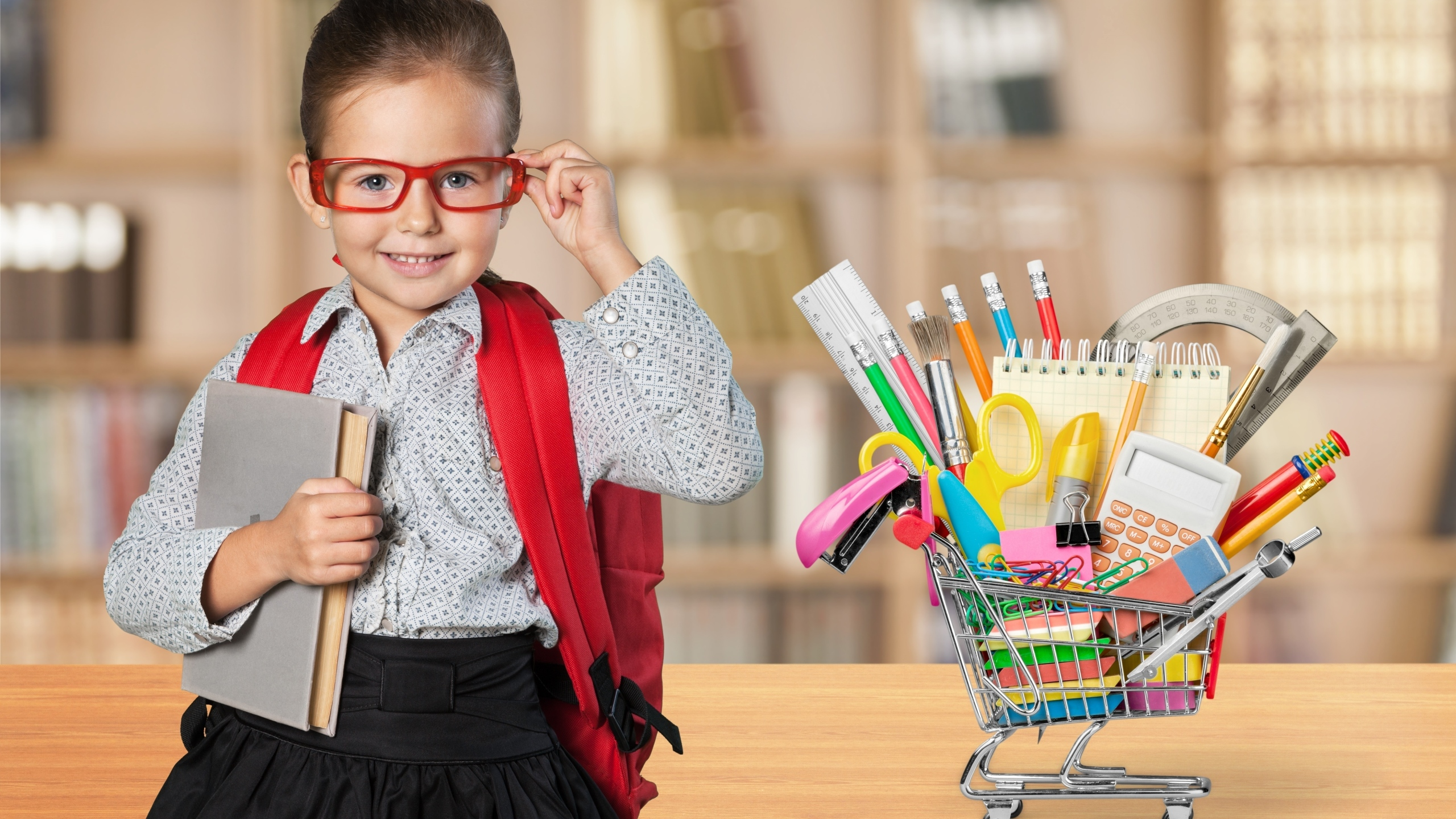 back to school shopping kid school supplies shutterstock_291295