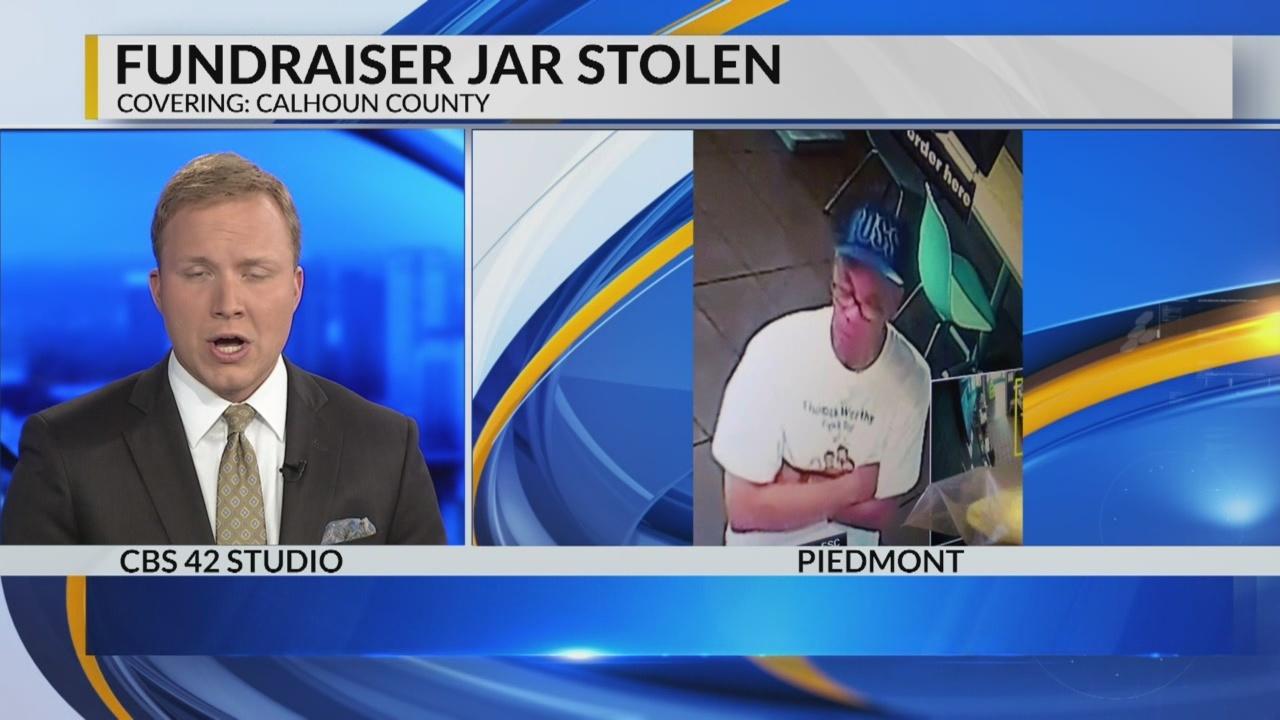 Fundraiser jar stolen