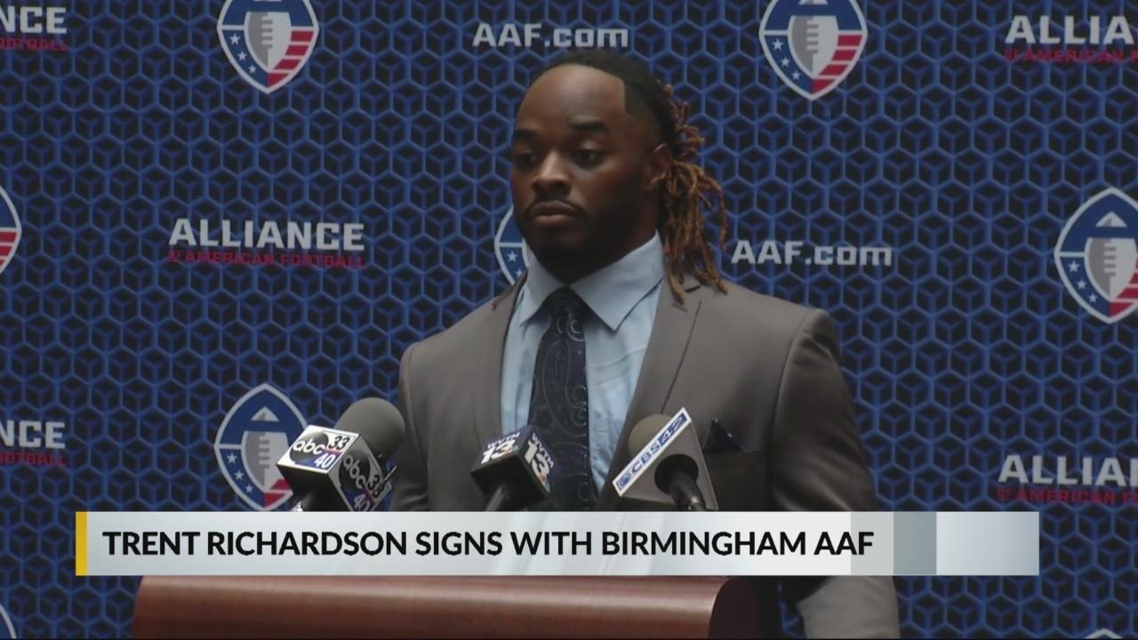 Trent Richardson signs with Birmingham AAF