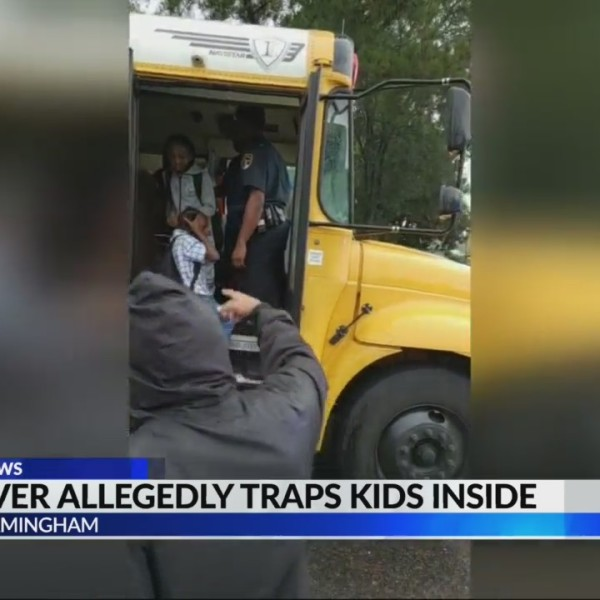 Bus driver allegedly traps students on bus