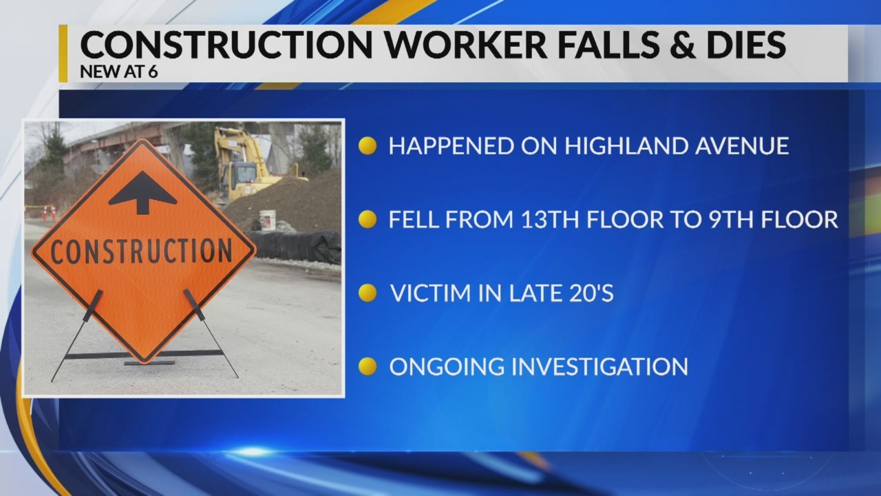 Construction worker falls and dies