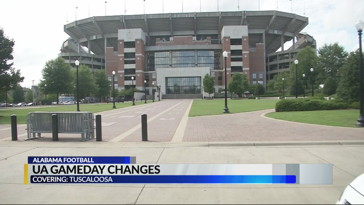 Game Day Changes at Bryant Denny stadium in Tuscaloosa