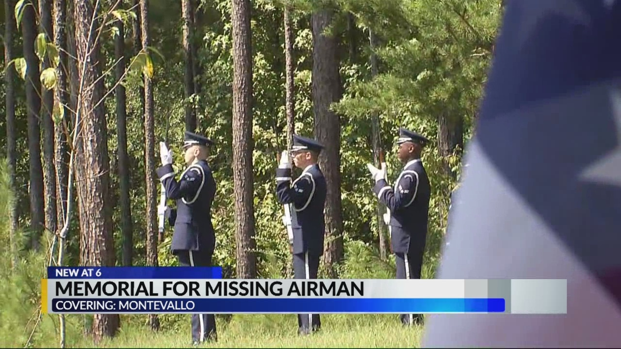 Memorial for missing airman