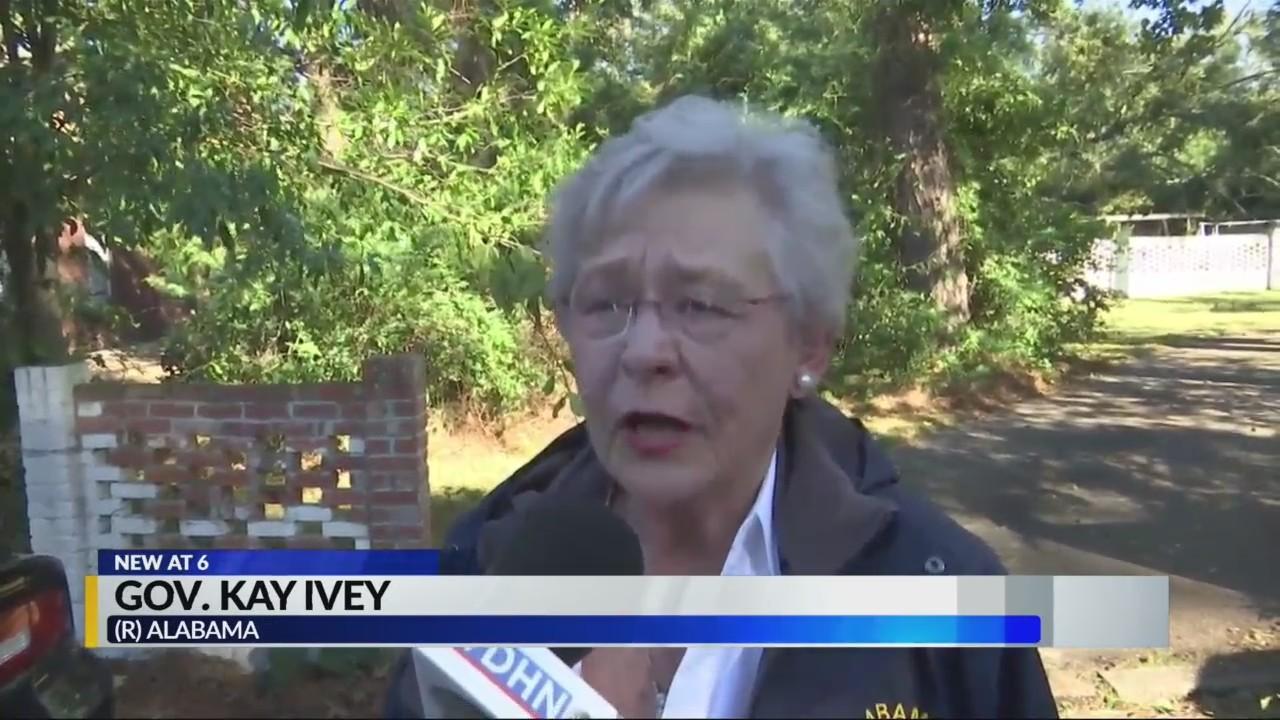 Gov. Kay Ivey in Dothan after storm