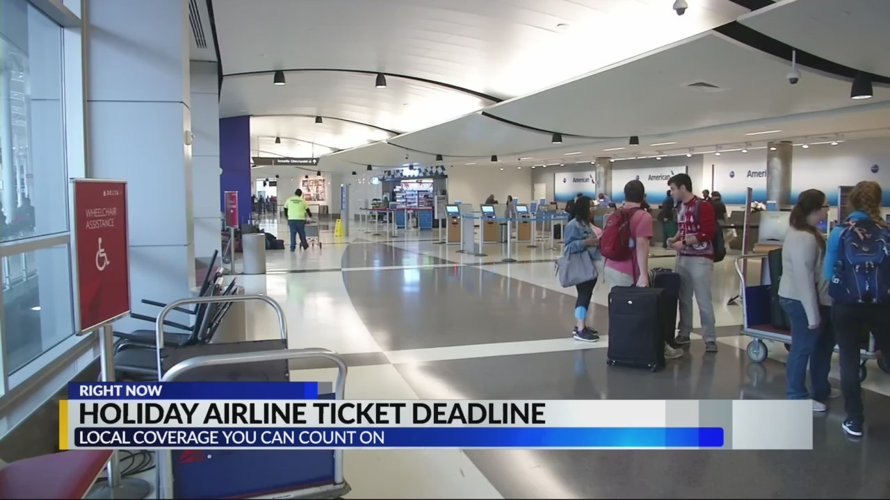 Holiday airline ticket deadline