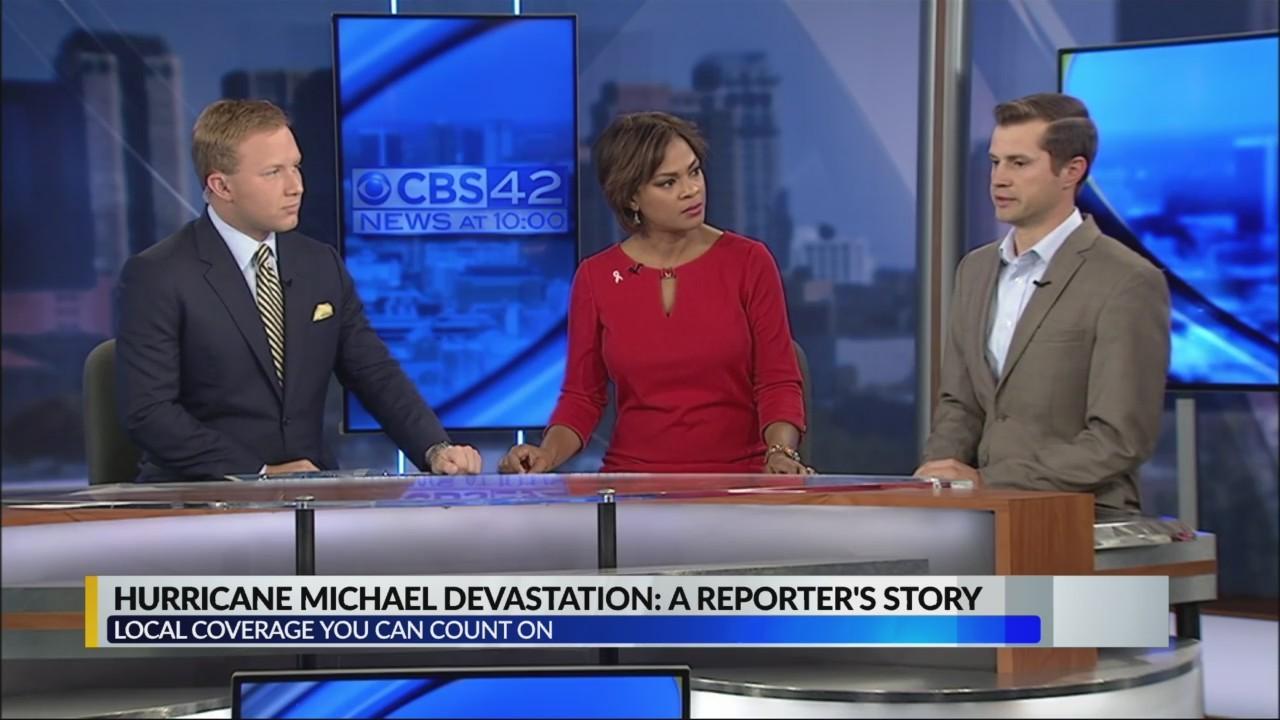 Hurricane Michael devastation from CBS 42 reporter