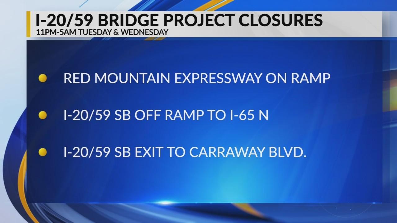 I-20/59 bridge project closures