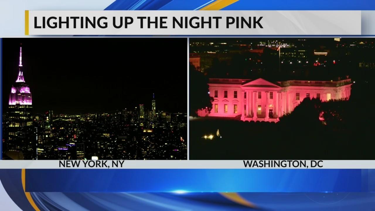 Lighting up the night pink