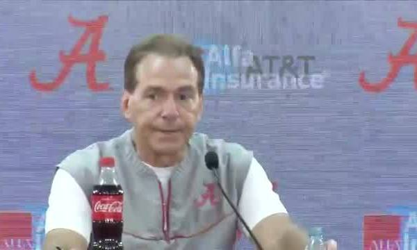 Nick Saban press conference before Tide plays Arkansas