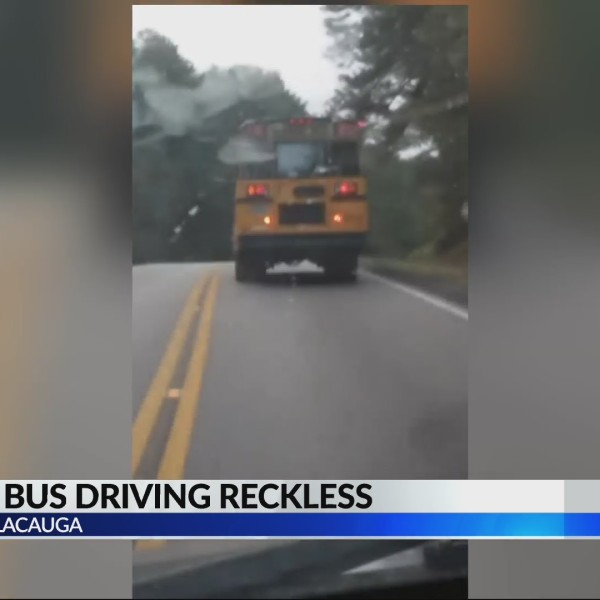 School bus driving reckless