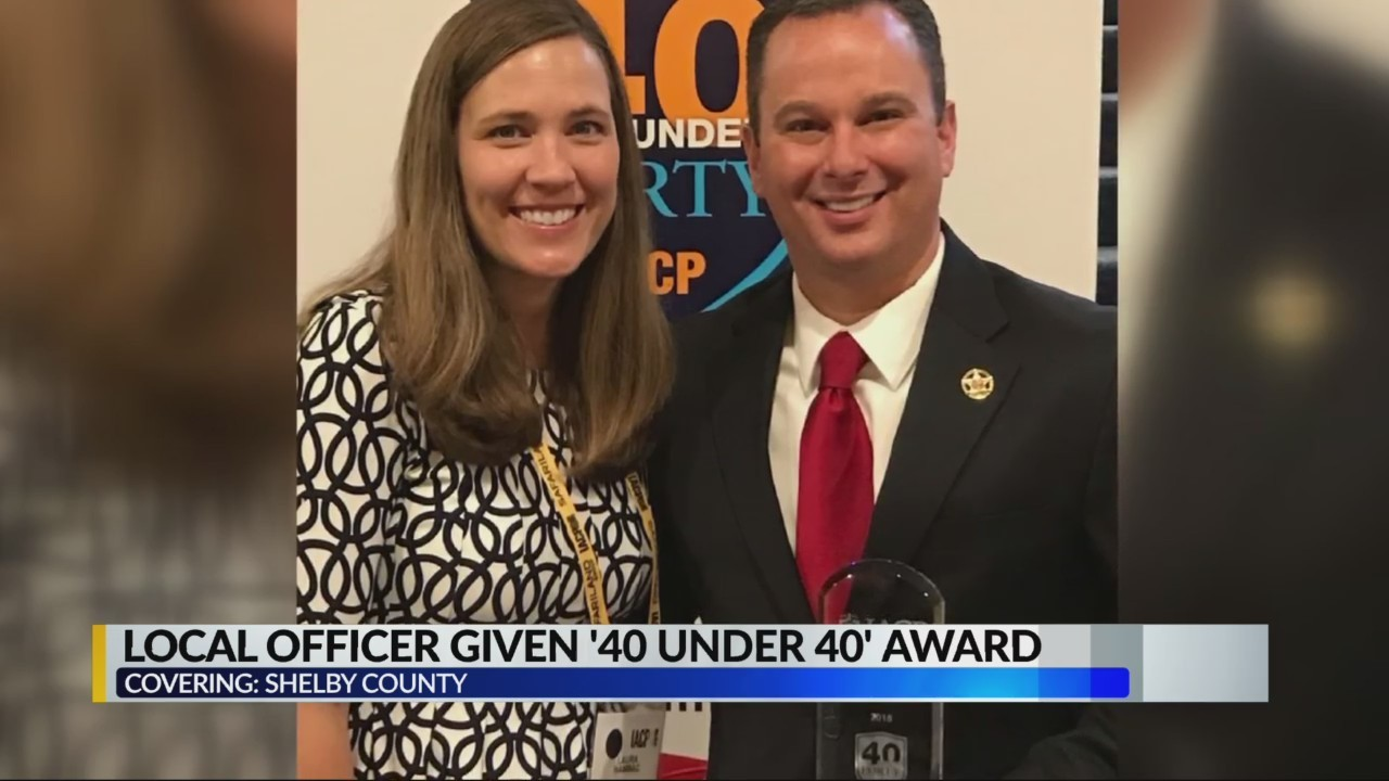 Shelby County officer given '40 under 40' award