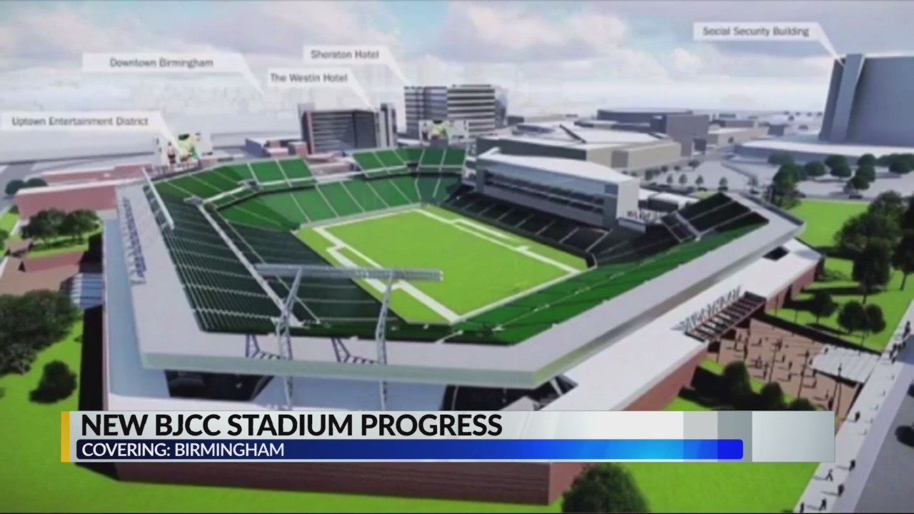 BJCC Stadium and renovation progress