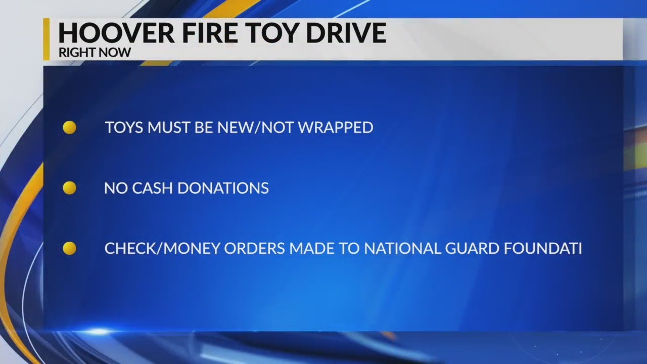 Hoover Fire Department Toy Drive