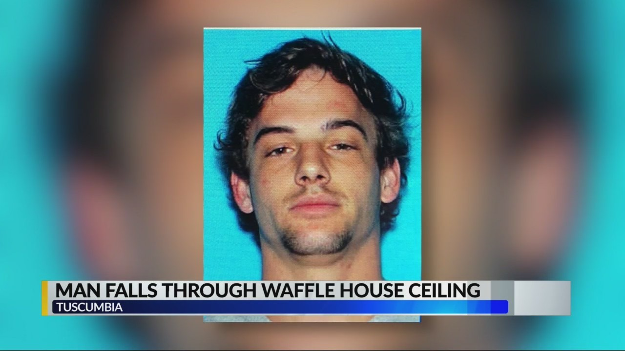 Man falls through Waffle House ceiling