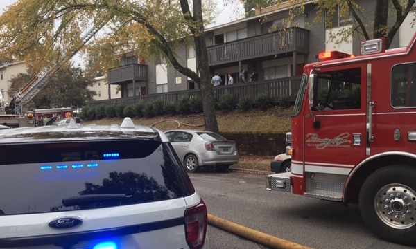 smoke damaged apartment fire