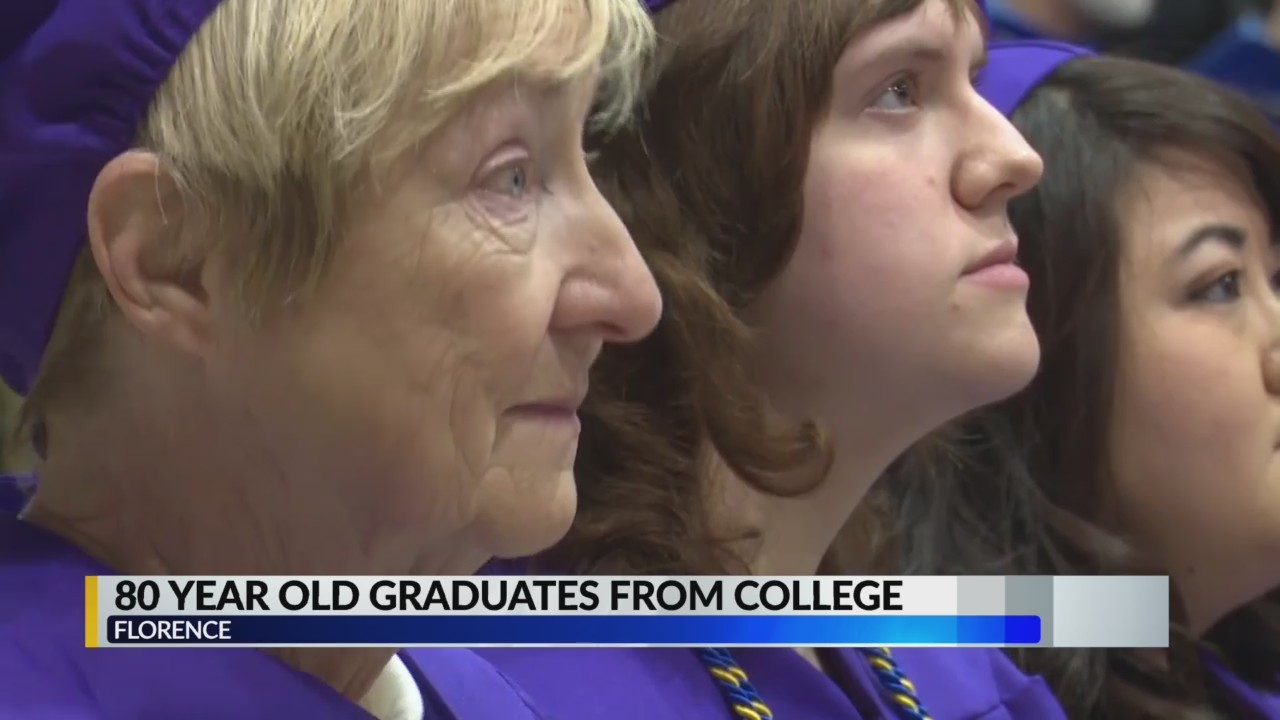 80-year-old graduates from college